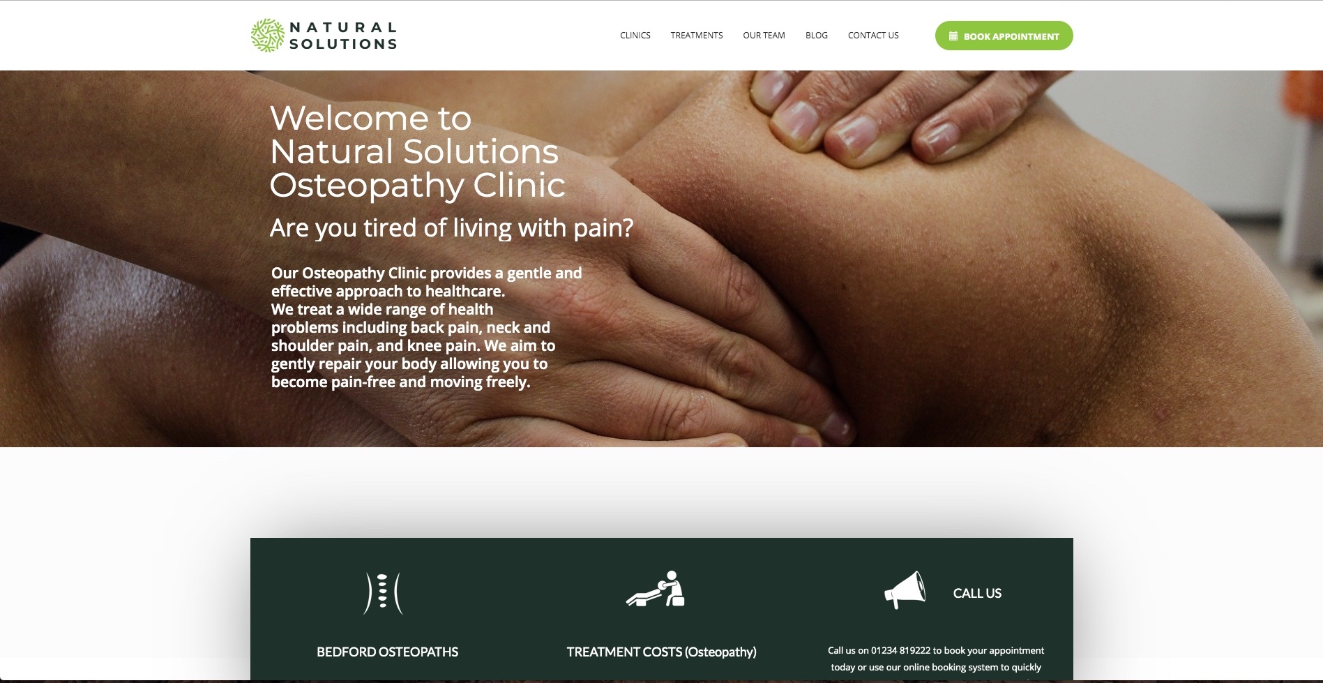 Natural Solutions Osteopathy Screenshot